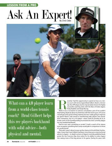 What can a 4.0 player learn from a world-class tennis ... - Chris Oddo