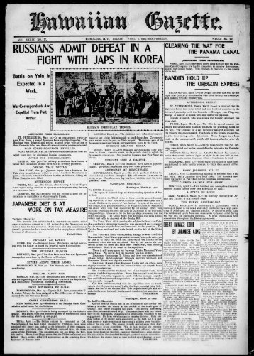 RUSSIANS ADMIT DEFEAT IN A FIGHT WITH JAPS IN KOREA - eVols