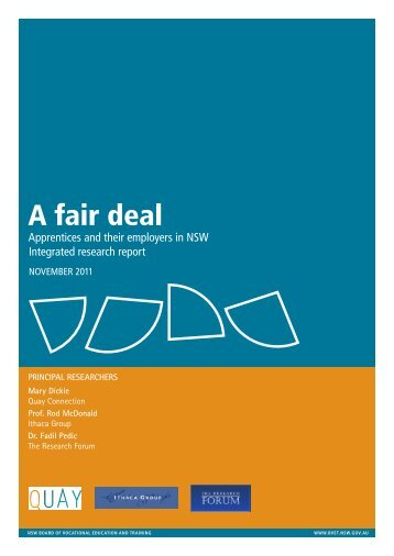 A fair deal - NSW Board of Vocational Education and Training