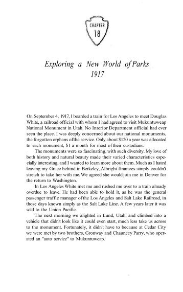 Exploring a New World of Parks 1917 - National Park Service