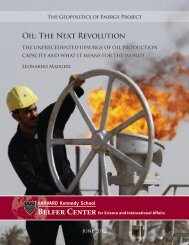 Oil: The Next Revolution - Belfer Center for Science and ...