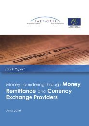 Money laundering through money remittance ... - Council of Europe