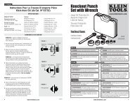 Knockout Punch Set with Wrench - Klein Tools