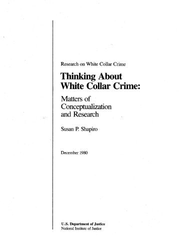 white collar crime research