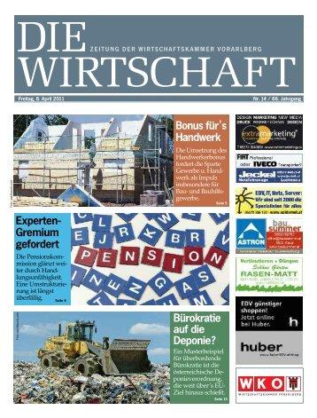 Die Wirtschaft Nr. 14 vom 8. April 2011
