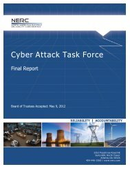 Cyber Attack Task Force - Final Report - NERC