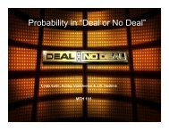 """Probability in """"Deal or No Deal"""""""