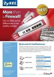 Wichtigste Vorteile der ZyWALL USGs 20, 20W ... - PH Networks AG
