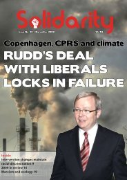 Rudd'S deal with libeRalS loCkS in failuRe - Solidarity Online