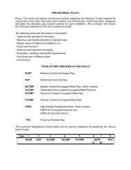 Pipe Material Policy - Nebraska Department of Roads