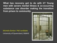 What has recovery got to do with it? - University of Queensland