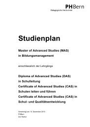 Studienplan ZLG ICT - PHBern