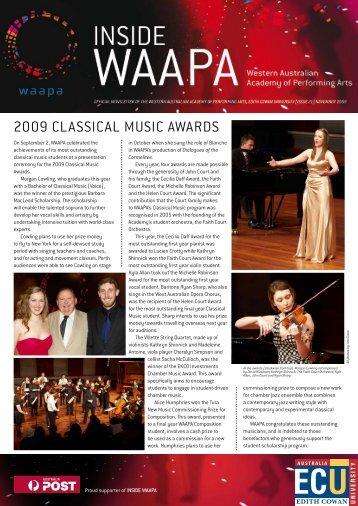 2009 CLASSICAL MuSIC AWARDS - Western Australian Academy ...
