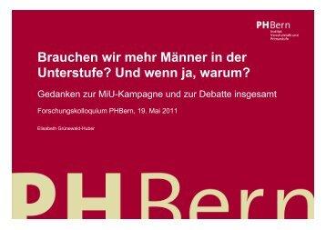 Empirische Überprüfung der Thesen => Relativierungen und - PHBern