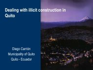 Dealing with illicit construction in Quito - United Nations International ...