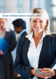 Event- & Reservations-System (ERS) - PH Networks AG