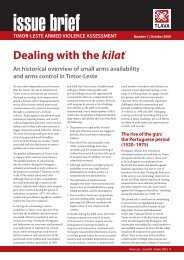 Dealing with the kilat - Timor-Leste Armed Violence Assessment