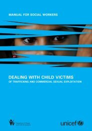 Dealing with Child Victims of Trafficking and Commercial