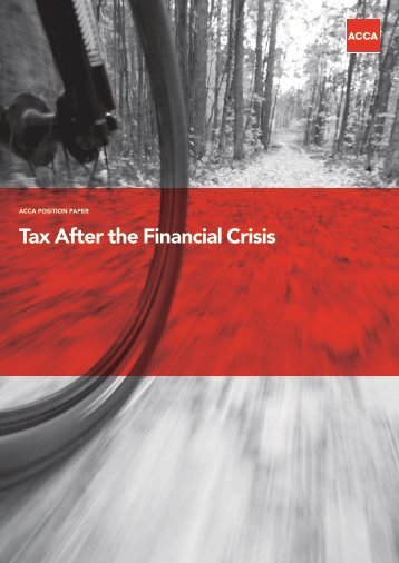 Tax After the Financial Crisis - ACCA