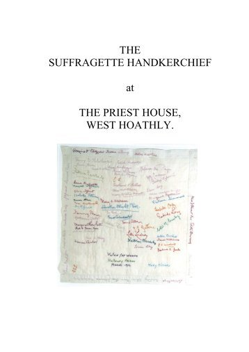 The suffragette handkerchief - Sussex Archaeological Society