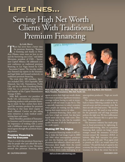 Serving High Net Worth Clients With Traditional Premium Financing