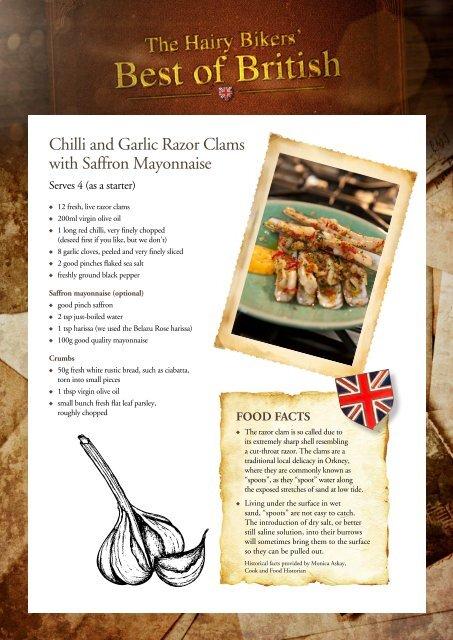 Chilli and Garlic Razor Clams with Saffron Mayonnaise - BBC