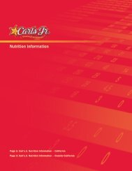 Nutrition Information - Carl's Jr.