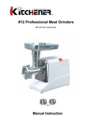 12 Professional Meat Grinders - Edge Manufacturing