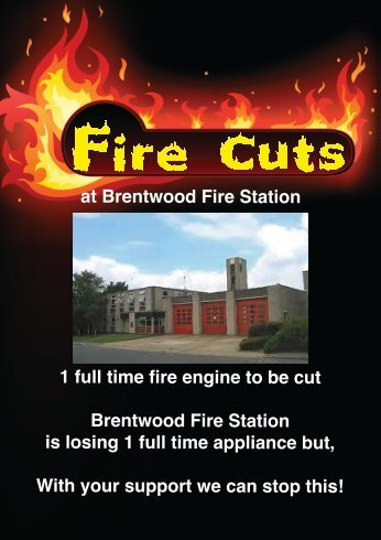 at Brentwood Fire Station 1 full time fire engine to be cut Brentwood ...