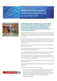 Despar: Accounts payable invoice processing time cut by ... - EMC
