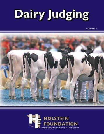Dairy Judging Workbook - the Holstein Foundation