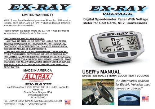 """65/"""" Cable Speed Bolt Sensor Kit for EXRAY Speedometer Alltrax"""