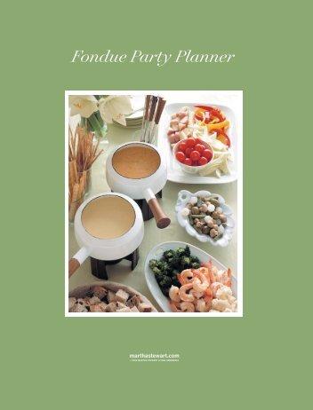 Fondue Party Planner - Martha Stewart