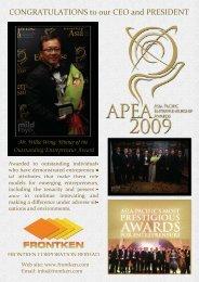 Asia Pacific Entrepreneurship Award 09 - NBS - Nanyang ...