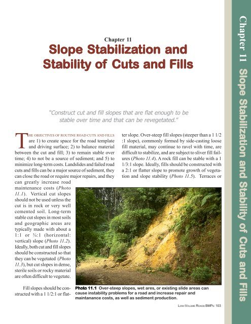 Chapter 11 Slope Stabilization and Stability of Cuts