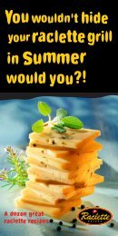 With our recipes you can bring a change - Raclette Suisse