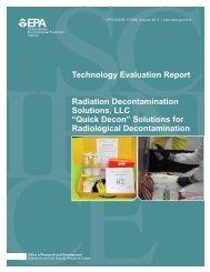 Radiation Decontamination Solutions, LLC