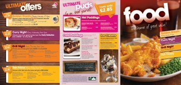 to view our Food Menu - Rufford Mansfield