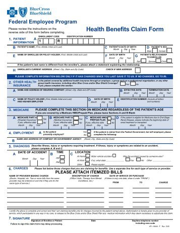 Anthem Blue Cross Member Claim Form - Student Health Center
