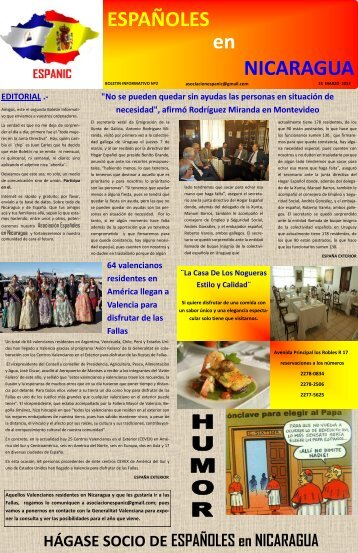 ESPAÑOLES en NICARAGUA