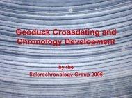 Geoduck Crossdating and Chronology Development