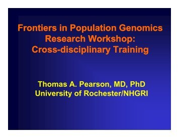 Tom Pearson - National Human Genome Research Institute