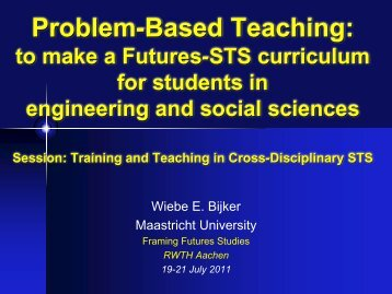 Problem- or Project-Based Teaching Session: Training and ... - RWTH