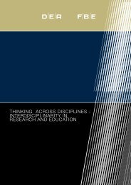 thinking across disciplines - interdisciplinarity in research ... - FUHU
