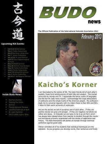 February 2013 Budo News - Florida Jukido Jujitsu Academy