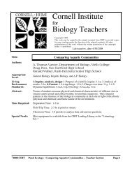 Download Lab - Cornell Institute for Biology Teachers