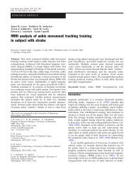 fMRI analysis of ankle movement tracking training in subject with ...