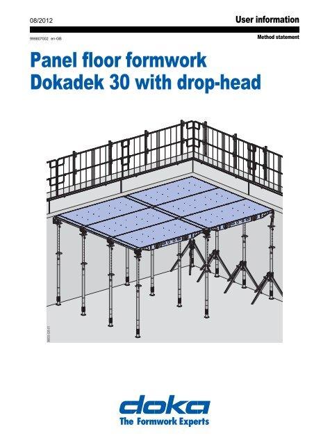 Panel floor formwork Dokadek 30 with drop-head - DOKA Lietuva