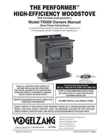 the performer™ high-efficiency woodstove - Home Depot