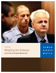 Weighing the Evidence - Human Rights Watch
